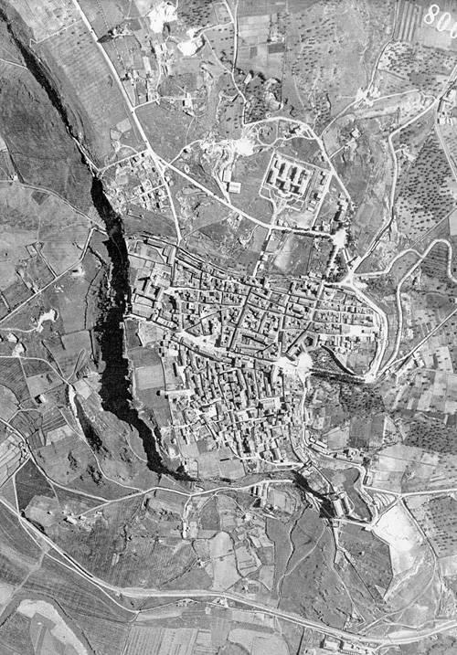 Tarquinia foto aerea zenitale anni 1941 - 1942