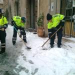 Volontari al lavoro a Tarquinia