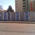 Gli spazi elettorali con i manifesti rimossi