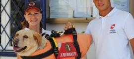 Ariel e Daniela presso la Guardia Costiera dopo l'intervento