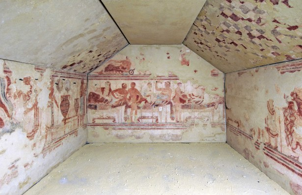 2 la_tomba_della_nave di Tarquinia che verrà ESPOSTA con gli affreschi originali a palazzo pepoli
