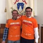 Il sindaco Sergio Caci con il Presidente del Consilgio Comunale Marco La Monica