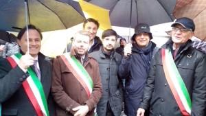 il vicesindaco Luca Benni alla manifestazione a Montecitorio