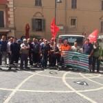 gli operatori in piazza