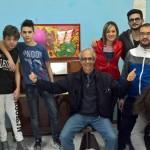 micocci con i giovani artisti locali