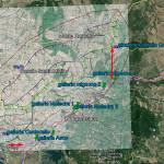 Mappa ex ferrovia Civitavecchia Capranica frecce