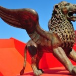 """Lions are displayed on the eve of the opening of the 68th Venice International Film Festival on August 30, 2011. Twenty-two films -- all world premieres -- will compete for the prestigious Golden Lion award, with a host of stars expected on the red carpet, from the blue-eyed Clooney to US singer Madonna and """"The Godfather"""" star Al Pacino.  AFP PHOTO / ALBERTO PIZZOLI (Photo credit should read ALBERTO PIZZOLI/AFP/Getty Images)"""
