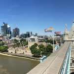 tower bridge rainbow flag london pride