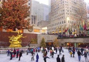 Skating at Rockefeller Center new york