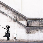 london banksy girl with balloon